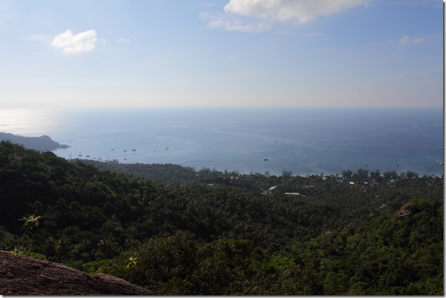 The wide west coast view from top of the hills at Koh Tao