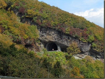 tunnel at  Craggy Gardens overlook