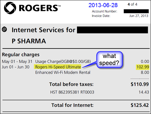Rogers bill doesn't show the plan speed (click to expand)