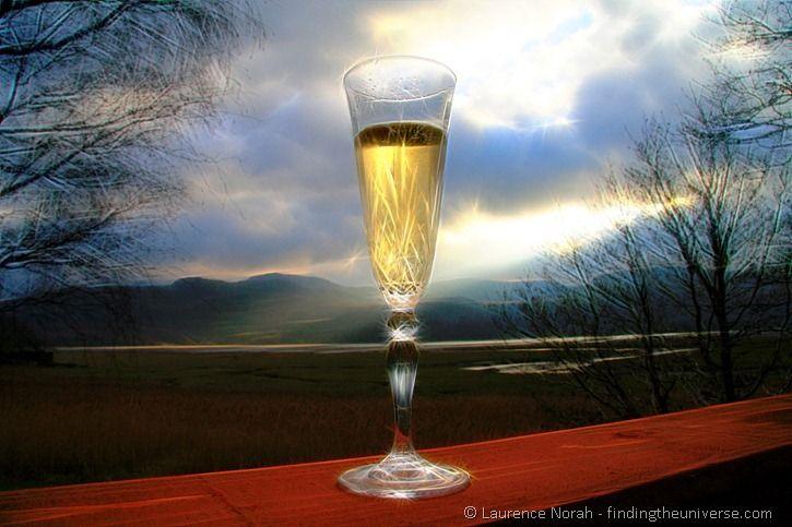 Surreal champagne glass 3