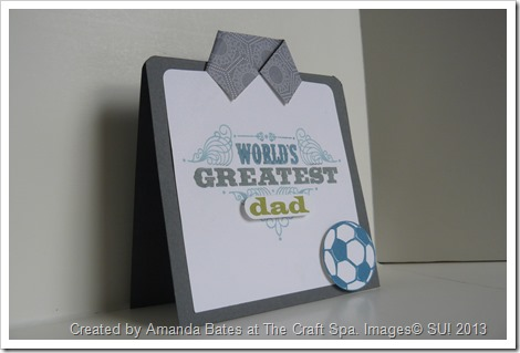 Amanda Bates, The Craft Spa, May 2013, Mens & Boys Class, Worlds Greatest Football Fan Card