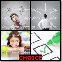 CHOICE- 4 Pics 1 Word Answers 3 Letters