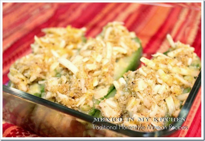 Cheese Stuffed Zucchini | Authentic Mexican Recipes