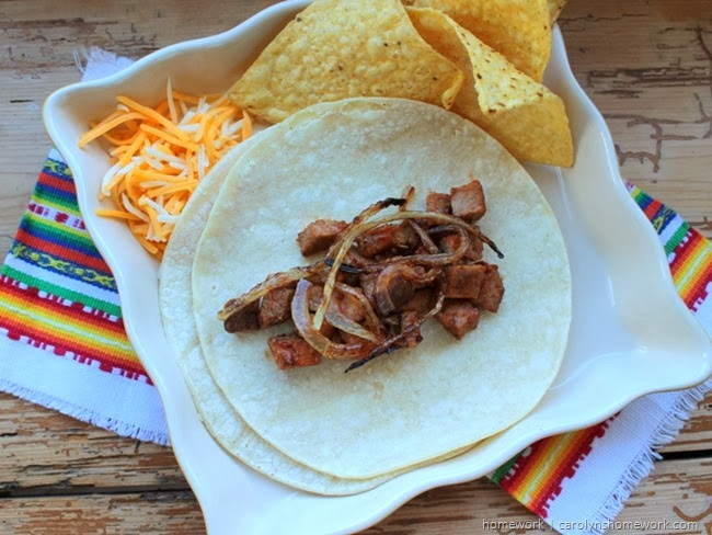 Leftover Steak Tacos via homework | carolynshomework.com