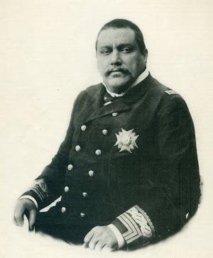 Don Joaquin Maria Lazaga y Garay. Foto de la revista EL MUNDO NAVAL ILUSTRADO. Año 1897