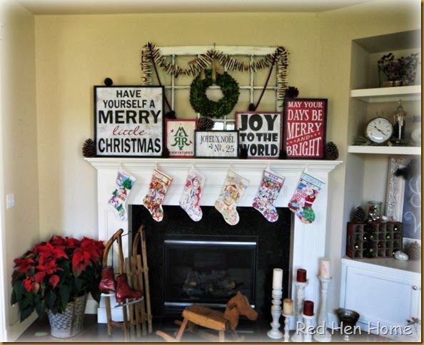 Red Hen Home Christmas Mantel 002