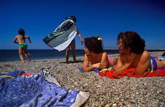 Playa de San Miguel Parque Natural del Cabo de Gata. Almeria