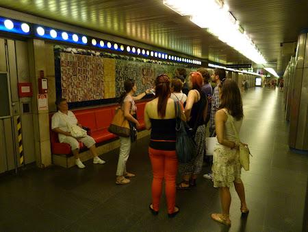 Obiective turistice Ungaria: statia de metro Budapesta