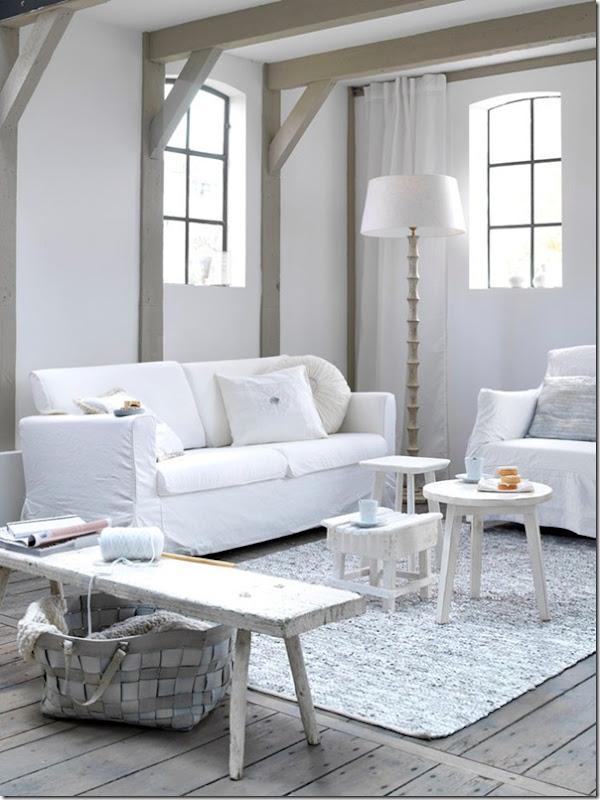 Sfumature di bianco case e interni for Foto case interni