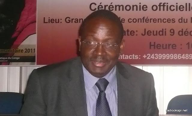 Le représentant spécial adjoint du secrétaire général de l'Onu en RDC, Fidèle Sarassoro,  09/12/2011 à Kinshasa.