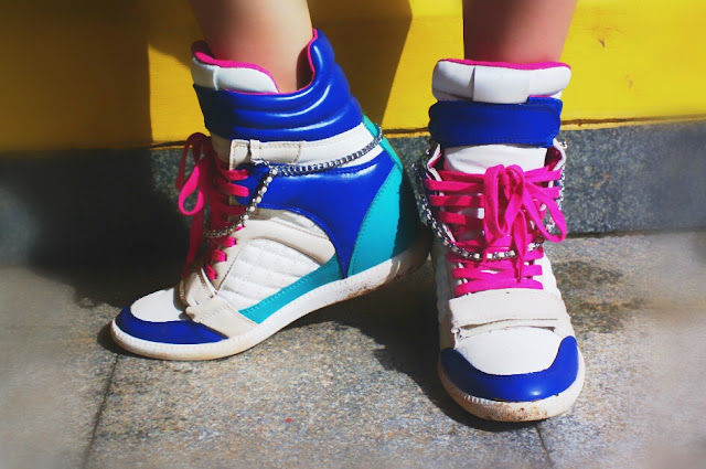 Puzzle Wedge Sneakers