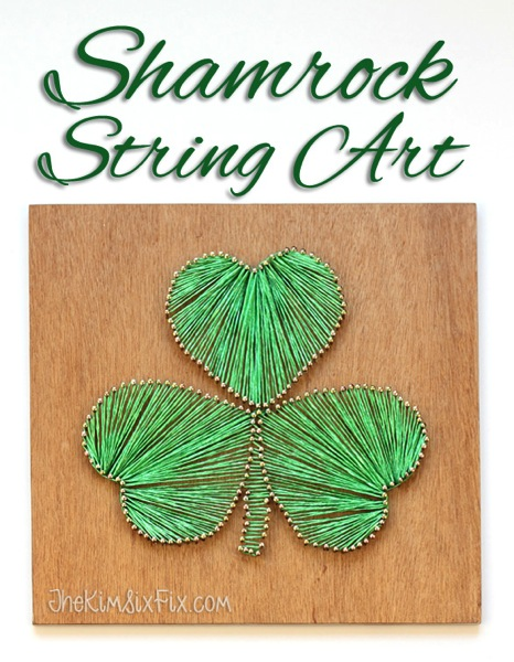 Shamrock string art tutorial