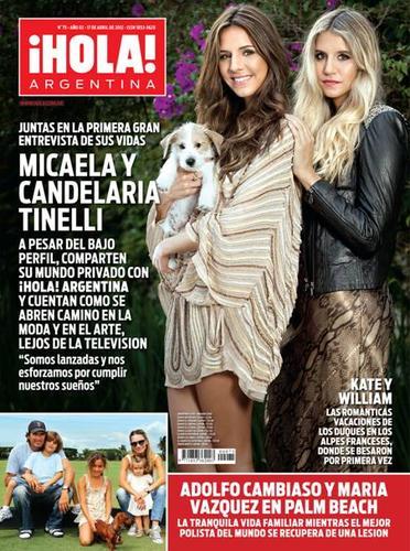 Micaela y candelaria tinelli en revista hola argentina for Revistas del espectaculo