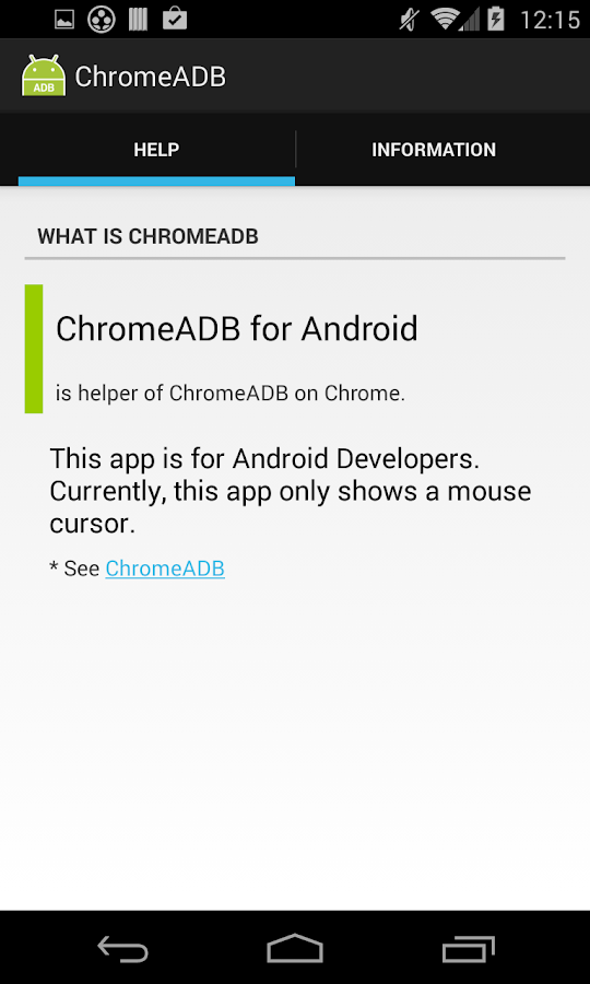 ChromeADB- screenshot