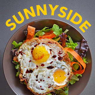 Sunnyside Salad (Crispy Fried Eggs on Greens)
