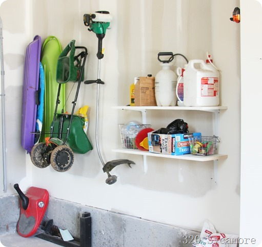 hanging storage in garage