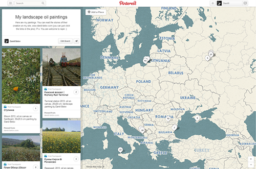 Pinterest Place Pins landscapes world map