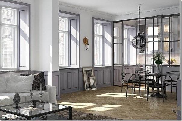 Cucine e pareti vetrate case e interni for Cucina di campagna inglese