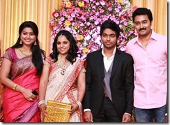 Sneha, Prasanna at GV Prakash Kumar & Saindhavi Wedding Reception Photos