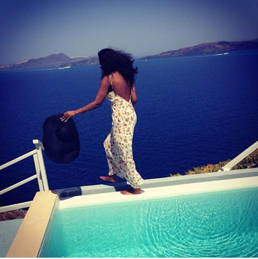 PHOTOS: Sylvia Nduka And Ene Maya's Vacation in Santorini Greece 16