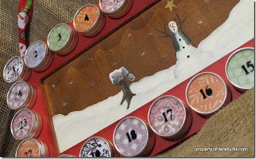 advent calendar with watch cases