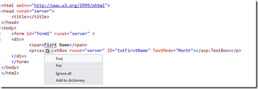 HTML Spell Checker Exetension for visual studio 2012