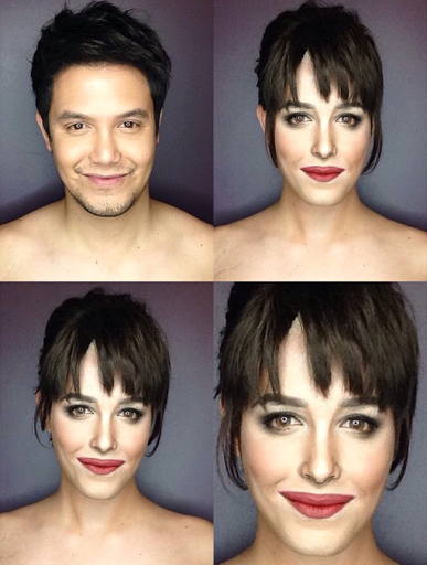PHOTOS: Dad Transforms Himself Into Celebrities Using Makeup And Wigs 12