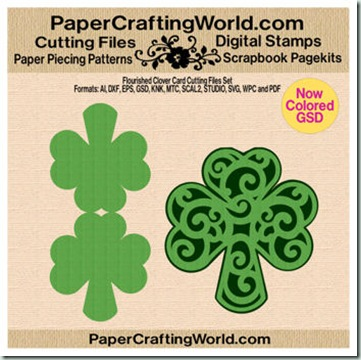 flourished clover card papered-350