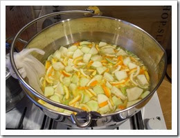 Five Fruit Marmalade cooking2 jan 14