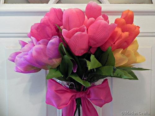 front door tulip bouquet