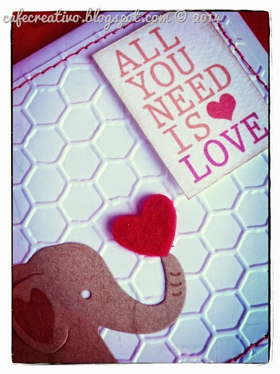 cafe creativo - sizzix big shot - valentine card