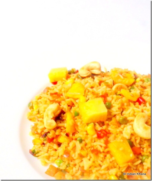 Vegetarian Thai Pineapple Fried Rice Recipe