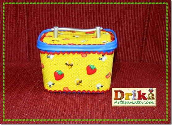 Potes de sorvetes decorados Azul Blog Drika Artesanato