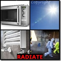 RADIATE- 4 Pics 1 Word Answers 3 Letters