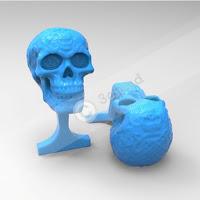 Cufflink with Skull Logo 1