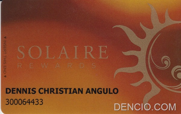 Solaire Membership Card Front