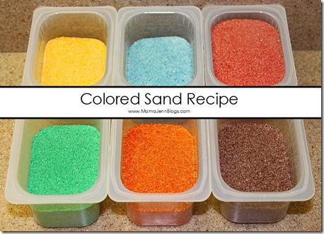 Colored Sand Recipe