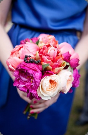 Peony and Garden Rose Bridesmaid Bouquet cori cook for floret cadet wedding