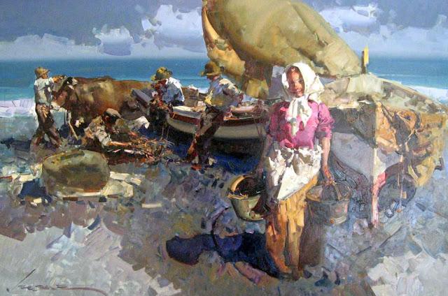 Eustaqui Segrelles - 13 Pescadora con blusa rosa.jpg