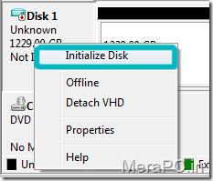 Initalize disk