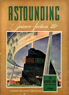 Cover by William Timmins of Astounding Science Fiction magazine, December 1942 issue