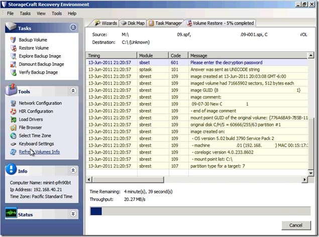MPECS Inc  Blog: P2V Using ShadowProtect V4 x – Quicker But