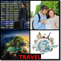 TRAVEL- 4 Pics 1 Word Answers 3 Letters