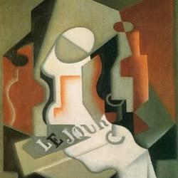 Juan Gris (1919): Botella y frutero. Museo Thyssen-Bornemisza. Cubismo