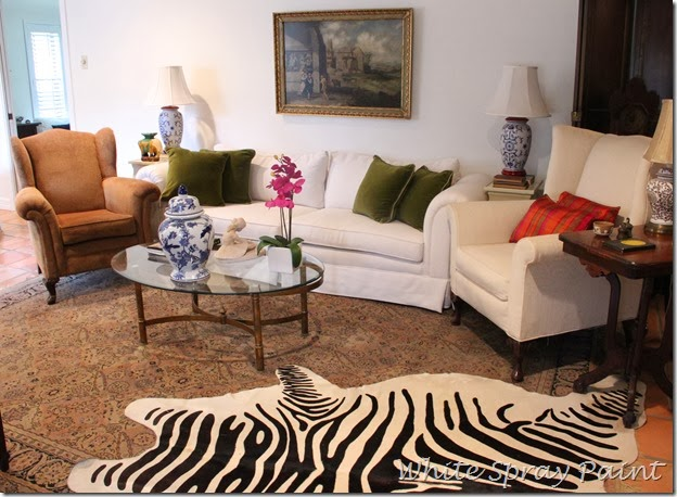 Zebra Rug-Traditional Setting