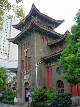 Temple Hongde à Duolun Lu (Rue des Ecrivains) à Shanghai