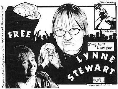 Free Lynne Stewart (graphic-by-Rashid-Johnson)