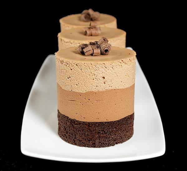 Triple Chocolate Mousse Cakes Recipe
