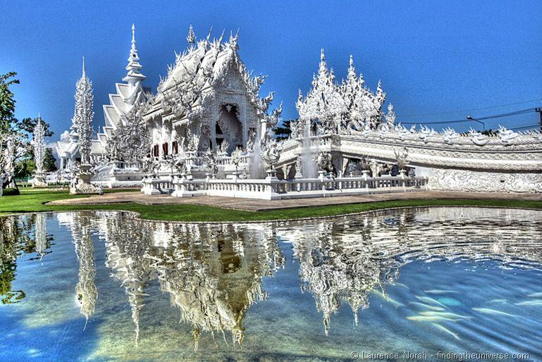 White temple Chiang Rai HDR