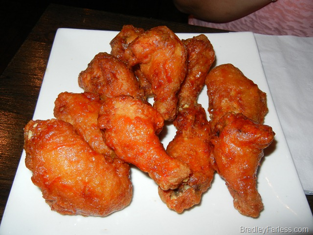 A half-half plate of spicy and teriyaki wings at Boka: Bon Chon, NYC.